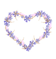 Geranium and Equiphyllum Flowers in A Heart Shape vector image