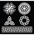 Celtic Irish patterns and knots -  St Patri vector image vector image