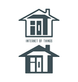 IOT house symbol vector image vector image
