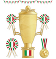italy football trophy vector image vector image