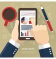 Stock Market On Smartphone vector image