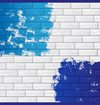 brick wall with color vector image