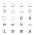 Coffee Cup Icons Line Set Of Design copy vector image