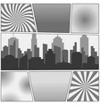 comic book page monochrome background vector image