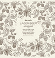 floral botanical hand drawn template vector image