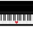 Heart love music piano vector image