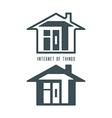 IOT house symbol vector image