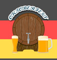logo for bar banner oktoberfest vector image