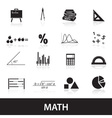 mathematics icons set eps10 vector image