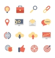 Set of SEO and Development flat icons vector image