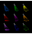 Spotlights with Rainbow Colours vector image