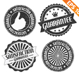 Stamp sticker guarantee collection - - EPS1 vector image