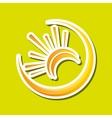 Sun design abstract icon summer concept vector image