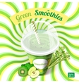 The concept of green smoothie with apple kiwi vector image