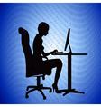 IT Secretary Background vector image vector image