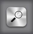 Search icon - metal app button vector image