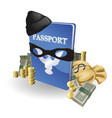 identity theft concept vector image vector image