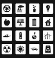 ecology icons set squares vector image