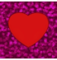 glowing heart background vector image