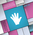 hand icon sign Modern flat style for your design vector image