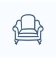 Armchair sketch icon vector image vector image