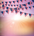 american flag bunting background 1406 vector image vector image