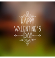 Happy Valentines Day card design with calligraphic vector image