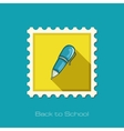 Pen flat stamp vector image