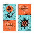 Set of travel vintage banners vector image