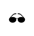 Sunglasses Icon Flat vector image