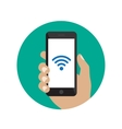 Smartphone with Wi-Fi icon vector image