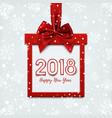 happy new year 2018 desig vector image