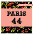 autumn t-shirt floral paris graphic fall travel vector image vector image