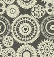 Seamless gear background retro color vector image vector image