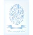 Vintage blue egg background vector image