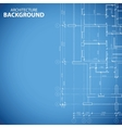 Blueprint building plan vector image vector image