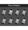 Set of Models Interface Smartphone vector image