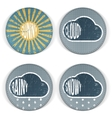 Weather vintage grunge Icons with Text vector image