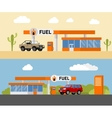 Concept fuel petrol station with a SUV car vector image