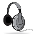 Headphones on a white background vector image
