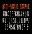 narrow sanserif font vector image