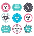 Radiation sign icon Danger symbol vector image