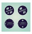 Set of round emblems designed for summer vector image