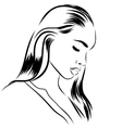 stylish original hand-drawn graphics vector image