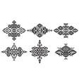 Tribal black element patterns on white background vector image