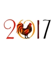 Red Fire Rooster Symbol of vector image vector image