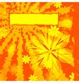 Floral Orange Grunge vector image vector image