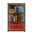 Hand drawing colored bookshelf home vector image