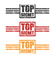 top secret three set vector image vector image