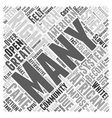Affirmative Action Word Cloud Concept vector image